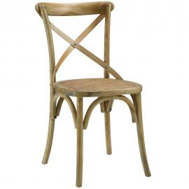 Nestor EEI-1541-Nat Mid Century Modern Natural Wood Dining Side Chair