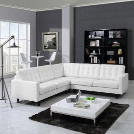 Noelle EEI-1549WH White Sectional Sofa