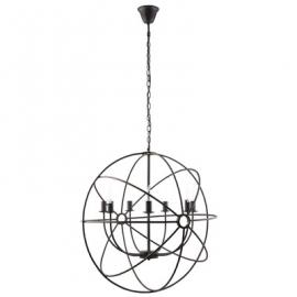 "EEI-1550 Atom Black 30"" Steel Chandelier"