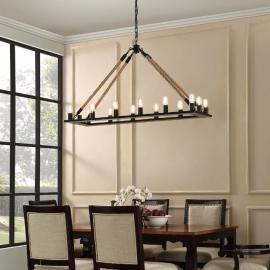 "EEI-1573 Bridge 49"" x 15"" Chandelier"