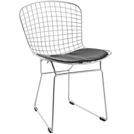 CAD EEI-161-BLK Metal Dining  Side Chair with Black Seat
