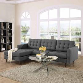Naomi EEI-1666DKGY Dark Gray Sectional Sofa