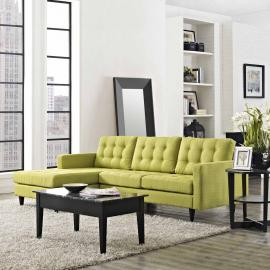 Naomi EEI-1666GR Green Sectional Sofa