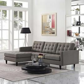 Naomi EEI-1666GY Gray Sectional Sofa