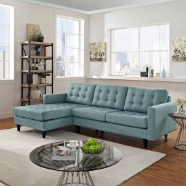 Naomi EEI-1666LB Light Blue Sectional Sofa