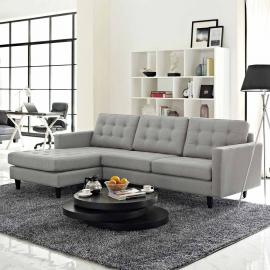 Naomi EEI-1666LTGY Light Gray Sectional Sofa