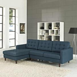 Naomi EEI-1666NV Navy Blue Sectional Sofa