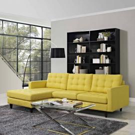 Naomi EEI-1666YW Yellow Sectional Sofa