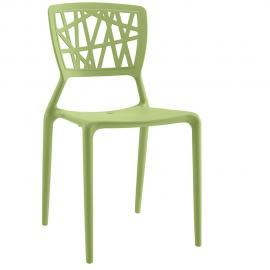 Astro EEI-1706-GRN Green Crisscross Dining Side Chair