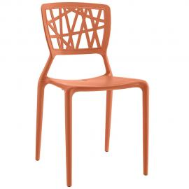 Astro EEI-1706-ORA Orange Crisscross Dining Side Chair