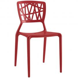Astro EEI-1706-RED Red Crisscross Dining Side Chair