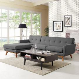 Engage EEI-1792-3GY Gray Left-Facing Sectional Sofa