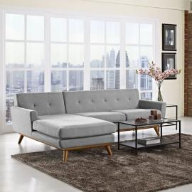 Engage EEI-1792-3LTGY Light Gray Left-Facing Sectional Sofa