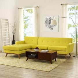 Engage EEI-1792-3YW Yellow Left-Facing Sectional Sofa