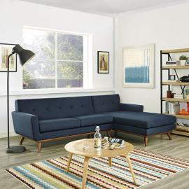 Engage EEI-1795-4NV Navy Blue Right-Facing Sectional Sofa