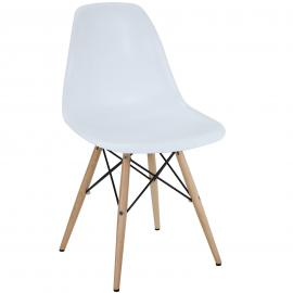 Pyramid EEI-180-WHI White Dining  Side Chair