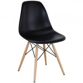 Pyramid EEI-180-BLK Black Indoor/Outdoor Dining  Side Chair