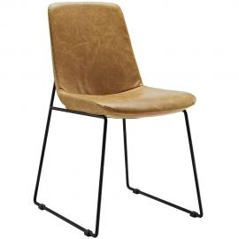 Invite EEI-1805 Tan Transitional Dining Side Chair
