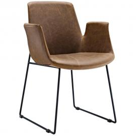 Aloft EEI-1806 Brown Transitional Dining  Arm Chair