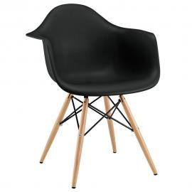 Pyramid EEI-182-BLK Black Dining Flared Arm Chair
