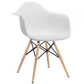 Pyramid EEI-182-WHI White Dining Flared Arm Chair