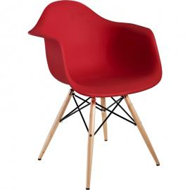 Pyramid EEI-182-RED Red Dining Flared Arm Chair