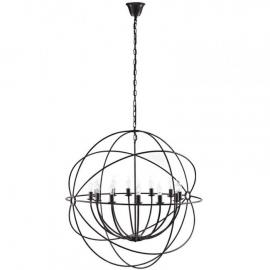 "EEI-2111 Atom Brown 40"" Steel Chandelier"