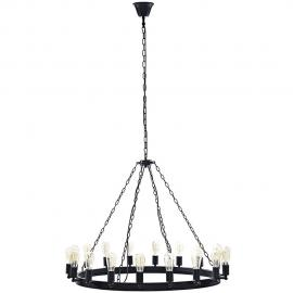 "EEI-2117 Teleport Brown 43"" Chandelier"