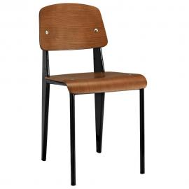 Clawson EEI-214 Walnut and Black Dining Side Chair