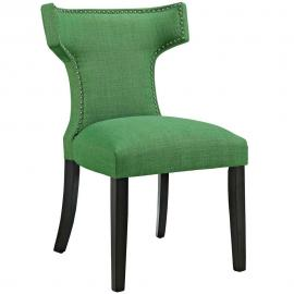 Curve EEI-2221-GRN Kelly Green Fabric Curved Back Dining Side Chair