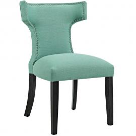Curve EEI-2221-LAG Laguna Fabric Curved Back Dining Side Chair