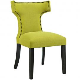 Curve EEI-2221-WHE Wheatgrass Fabric Curved Back Dining Side Chair