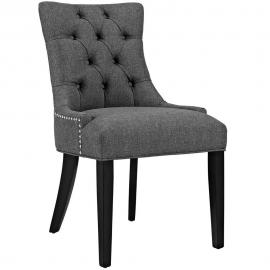 Regent EEI-2223-GRY Grey Fabric Dining Side Chair
