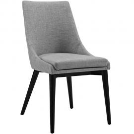 Viscount EEI-2227-LGR Light Grey Fabric Parson Dining Side Chair