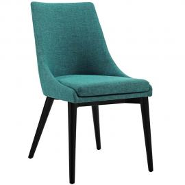 Viscount EEI-2227-TEA Teal Fabric Parson Dining Side Chair
