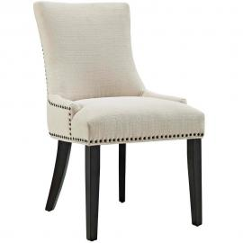 Marquis EEI-2229-BEi Beige Fabric with Nailhead Trim Dining Side Chair