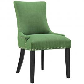 Marquis EEI-2229-GRN Kelly Green Fabric with Nailhead Trim Dining Side Chair