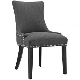 Marquis EEI-2229-GRY Gray Fabric with Nailhead Trim Dining Side Chair