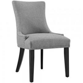 Marquis EEI-2229-LGR Light Gray Fabric Nailhead Trim Dining Side Chair