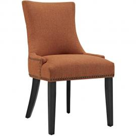 Marquis EEI-2229-ORA Orange Fabric with Nailhead Trim Dining Side Chair