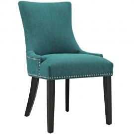 Marquis EEI-2229-TEA Teal Fabric with Nailhead Trim Dining Side Chair