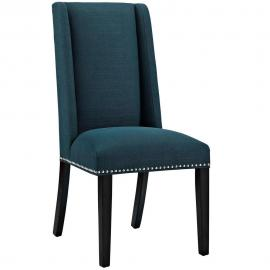 Baron EEI-2233-AZU Azure Fabric Wing Back Dining Side Chair