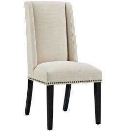 Baron EEI-2233-BEI Beige Fabric Wing Back Dining Side Chair