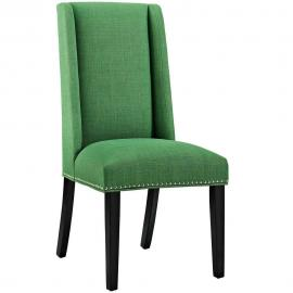 Baron EEI-2233-GRN Kelly Green Fabric Wing Back Dining Side Chair