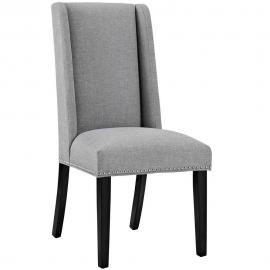 Baron EEI-2233-LGR Gray Fabric Wing Back Dining Side Chair