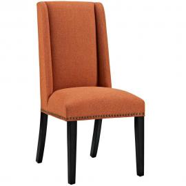 Baron EEI-2233-ORA-Orange Fabric Wing Back Dining Side Chair