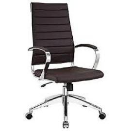 Jive EEI-272 Brown High-Back Office Chair