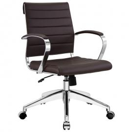 Jive EEI-273 Brown Mid-Back Office Chair