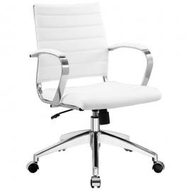 Jive EEI-273 White Mid-Back Office Chair