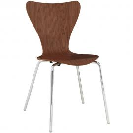 Ernie EEI-537-WAL Wood/Metal Dining Side Chair with Walnut Seat
